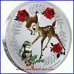 Disney Christmas Bambi and Thumper 1 oz silver coin Niue 2020