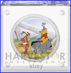Disney Winnie The Pooh Series Pooh & Friends 1 Oz. Silver Coin Ogp Coa