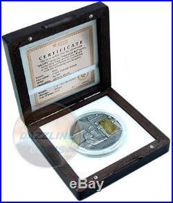 EGYPT Imperial Art Citrine window Crystal 2 Oz Silver Coin 2$ Niue 2015
