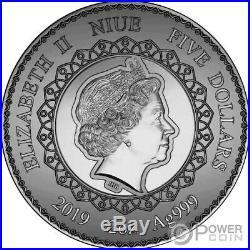 ELEPHANT Mandala Art 2 Oz Silver Coin 5$ Niue 2019