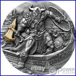 ERIC BLOODAXE Vikings 2 Oz Silver Coin 5$ Niue 2020