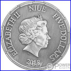 ERLANG SHEN Chinese Mythology 2 Oz Silver Coin 5$ Niue 2018