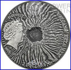 ERTA ALE Volcano Crater Ethiopia Lava 2 Oz Silver Coin 2$ Niue Island 2014