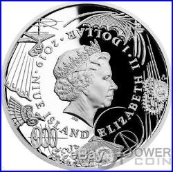 FLYING MACHINE 500th Anniversary Leonardo Da Vinci 1 Oz Silver Coin 1$ Niue 2019