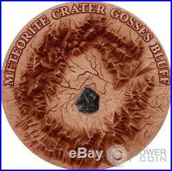 GOSSES BLUFF Meteorite Crater 1 Oz Silver Coin 1$ Niue Island 2017