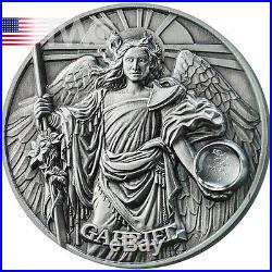 Gabriel The Choir of Angels 65 g Antique Finish Silver Coin 5$ Niue 2017