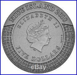 HADES-GODS OF OLYMPUS 2oz silver coin Niue 2018 Ultra High Relief Rose Gold Gild