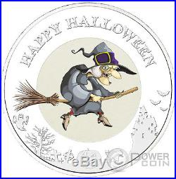 HALLOWEEN WITCH Glow In The Dark 1 oz Silver Coin 2$ Niue 2015