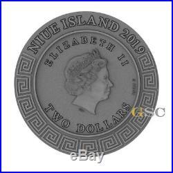 HEPHAESTUS God of the blacksmiths Gods Series 2$ silver coin Niue Island 2019