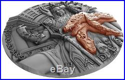 Hades Gods Of Olympus 2018 2 Oz Ultra High Relief Pure Silver Coin Niue