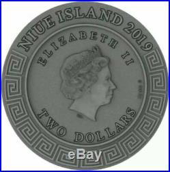 Hephaestus Niue 2019 2 Oz Gods 2 Dollars silver coin