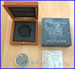 In Hand 2019 Niue Island 5$ Woman Warrior Amazons 2 oz Silver Coin Box COA Ebux