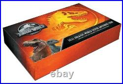 Jurassic World T-rex Shaped 2021 $5 2 Oz Silver Antiqued Coin In Case Niue