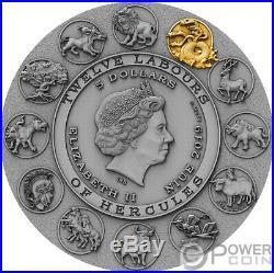 LERNAEAN HYDRA Twelve Labours of Hercules 2 Oz Silver Coin 5$ Niue 2019