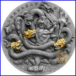 LERNAEAN HYDRA Twelve Labours of Hercules 2 Oz Silver Coin 5$ Niue 2019 PRESALE