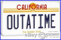 LICENCE PLATE Back To The Future 2 Oz Silver Coin 2$ Niue 2020