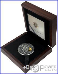 LONG EARED OWL Asio Otus 2 Oz Silver Coin 5$ Niue 2019