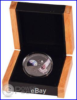 LUNAR METEORITE NWA 5000 Rock Silver Coin 1$ Niue Island 2015