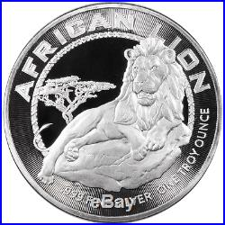 Lot of 20 2017 $2 Niue Silver African Lion. 999 1 oz Brilliant Uncirculated Fu
