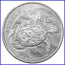 Lot of 2-2016 $5 Niue Hawksbill Turtle 2 Troy oz .999 Fine Silver BU