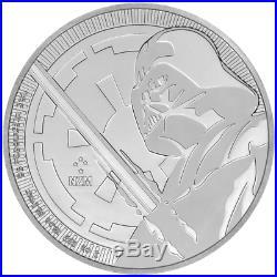 Lot of 5 2018 $2 Niue Silver Darth Vader Star Wars. 999 1 oz Brilliant Uncircu