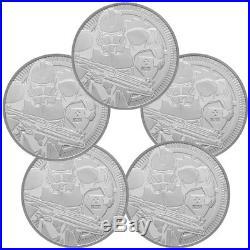 Lot of 5 2019 Niue Star Wars Classic Clone Trooper 1oz Silver $2 GEM BU SKU56664