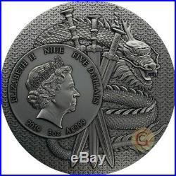 Lu Bu Warriors of Ancient China 3 Oz Silver Coin 5$ Niue 2019 PRESALE