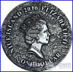 MARTIAN METEORITE NWA 6963 Mars Silver Coin 1$ Niue Island 2016