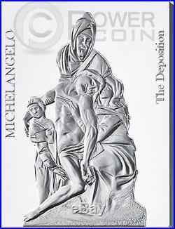 MICHELANGELO SCULPTURES Buonarroti 450th Anniv. Set 7 Silver Coin 10$ Niue 2014