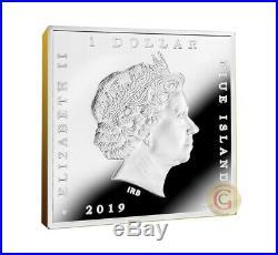 MILKMAID Johannes Vermeer 1 Oz Silver Coin 1$ Niue 2019, mint of Poland