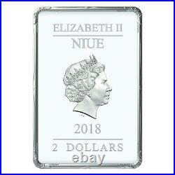 MONA LISA 1 oz Leonardo Da Vinci 2$ Dollar Proof Silver Coin Niue 2018