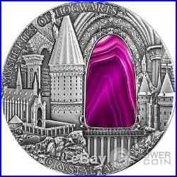 MYSTERIES OF HOGWARTS Crystal Art Castle 2 Oz Silver Coin 2$ Niue 2015