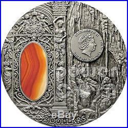 MYSTERIES OF WAWEL Royal Castle Crystal Art 2 Oz Silver Coin 2$ Niue 2013