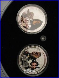 NIUE 2011 $2 dollar Star Wars Millennium Falcon 4 silver coins cameo BOXED SET