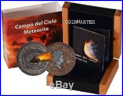 NIUE 2015 $1 METEORITE CAMPO DEL CIELO 1576 Meteor Crater 1 Oz Silver Coin