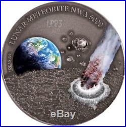 NIUE 2015 1 Oz Silver $1 Niue LUNAR MOON METEORITE NWA 5000 Coin