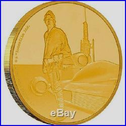 NIUE 2017 Star Wars Classic Luke Skywalker 1/4 oz Gold Coin