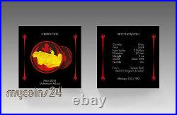 NIUE 2021 $2 Star Wars Millennium Falcon Space Red & Gold Holographic Edition