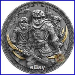 NIZARIS Assassins 2 Oz Silver Coin 5$ Niue 2019 PRESALE