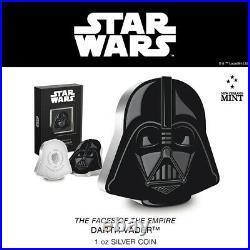 New! 2021 Star Wars Darth Vader 1 oz. 999 silver coin NUIE COA & OGP