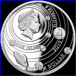Niue 1 Dollar 2019 Der Mond Sonnensystem (2.) in Farbe 1 Oz Silber PP