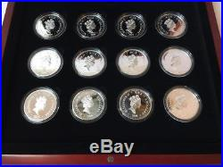 Niue 2009 12x2$ Twelve Days of Christmas12x25 grams Silver Proof Coin Set