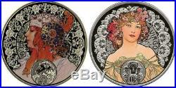 Niue 2010-2011 $1 Alphonse Mucha Zodiac Series 12 x 28.28g Silver Proof Coin Set