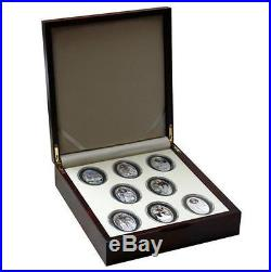 Niue 2010 2011 Gothic Cathedrals 8 x 1$ Silver Coin Set MINTAGE 150 SETS ONLY