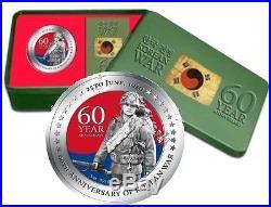 Niue 2010 2$ Korean War 60th Anniversary. 999 1oz Silver Coin Limited Edition
