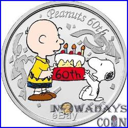 Niue 2010 $2 PEANUTS 60th Anniversary Snoopy Proof Silver Coin Set 3x1Oz
