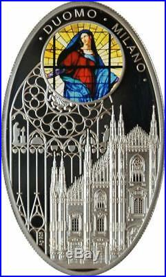 Niue 2011 $1 Gothic Cathedrals Duomo Milano Silver Proof Coin