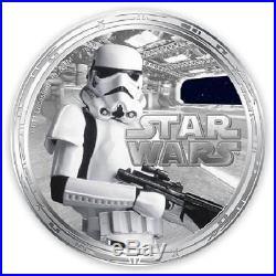 Niue 2011 $2 Star Wars Darth Vader 4 x 1 Oz Silver Proof Coin Set