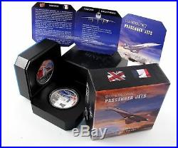 Niue 2011 SUPERSONIC Passenger Jets Concorde+Tupolev 2x1Oz Silver Proof Coin Set