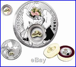 Niue 2012 2$ Lucky coins WEDDING 28,28g Silver Coin with 24K Gold Plated Piece